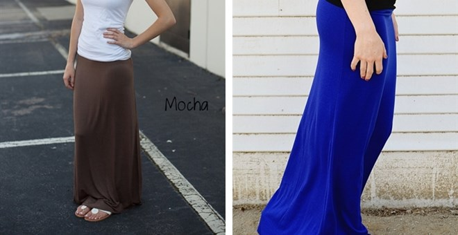 Solid Maxi Skirts