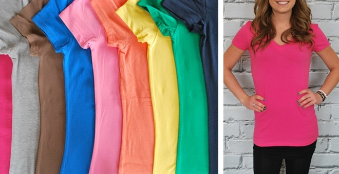 They're Back!  Extra Long V-Neck Shirts - S-3XL - 23 colors