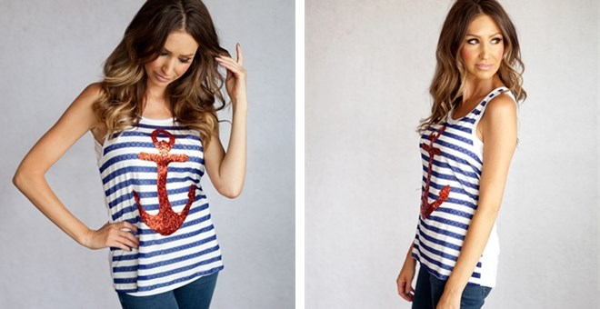 Striped Anchor Tanks!