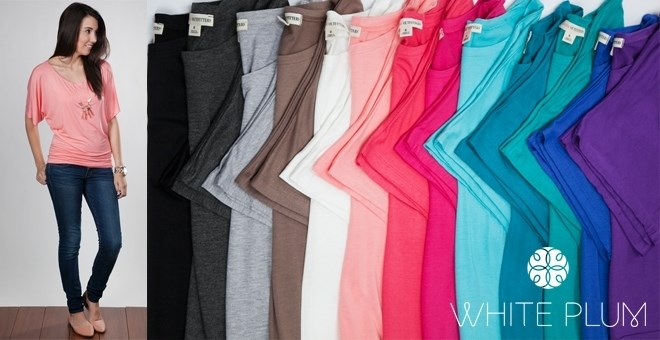 Everyday Dolman Top! S-3XL Sizing! 15 Color Options!