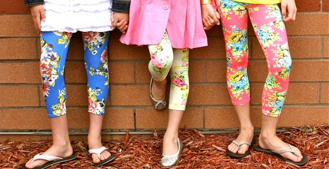 Restocked! Floral Leggings - Now Sizes up to 8/10 Youth!