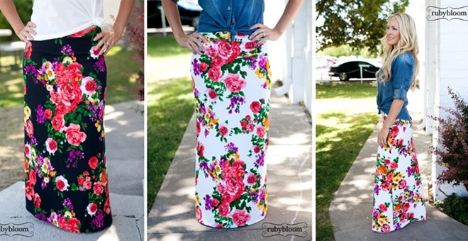Floral maxi skirts by Ruby Bloom