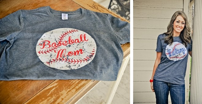 Distressed Personalized Baseball T-shirt
