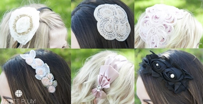 Set of 4 Handmade Fashion Headbands! 5 Styles Available!
