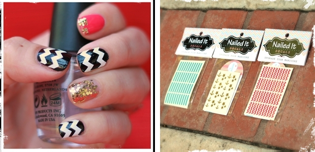 Nail Decals - Chevron, Bunnies and Bows - Choose from 21 Colors!