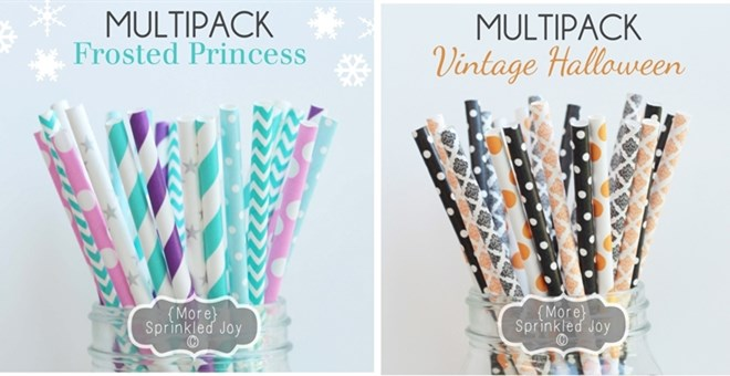 BEST-SELLING Designer Straw Multipacks & More! Over 130 Designs - High Quality!