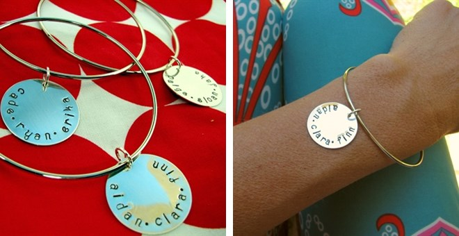 Best Selling Handstamped Sterling Disc Bangle Bracelets