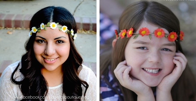 Handcrafted Summer Floral Crown by Isabella's Boutique