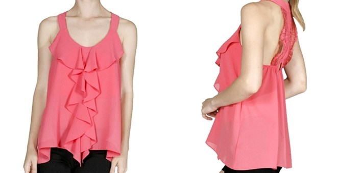 Ruffle & Lace Tank, 4 Colors