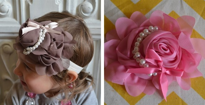 Vintage Pearl Hairbows