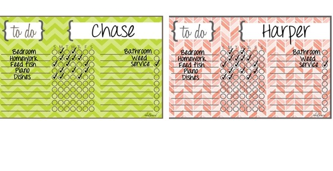 NEW Designs! Dry Erase Chore Chart Magnets