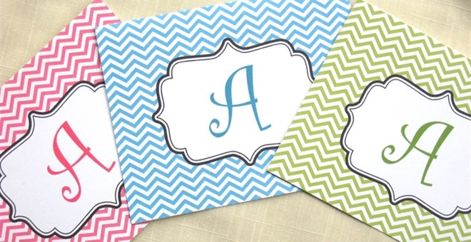Personalized Chevron Note Cards ~ Set of 8 ~ 10 Colors Available!