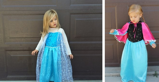 Popular Elsa & Anna Character Costume Dresses