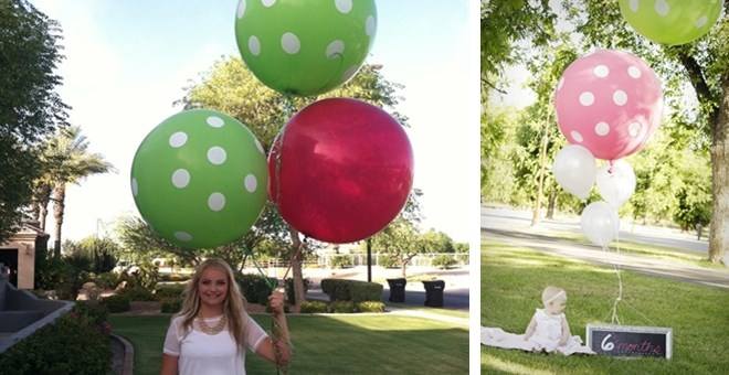"36"" Polka Dot Balloons Perfect for Photo Shoots, Parties, and Holidays"
