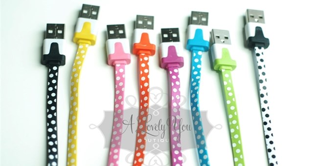 Polka Dot 3 in 1 charger kit-iPhone 5