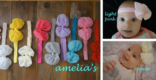 BEST SELLING CHIFFON BOW HEADBANDS