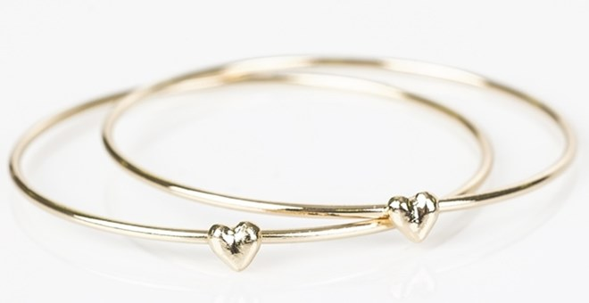 Heart Bangle Bracelet Set!