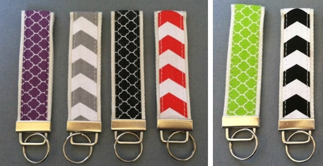 Chevron & Quatrefoil Key Fobs- 8 Colors!