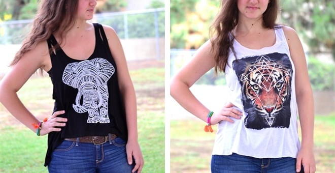 Summer Tanks in 4 Hot Hot Hot styles