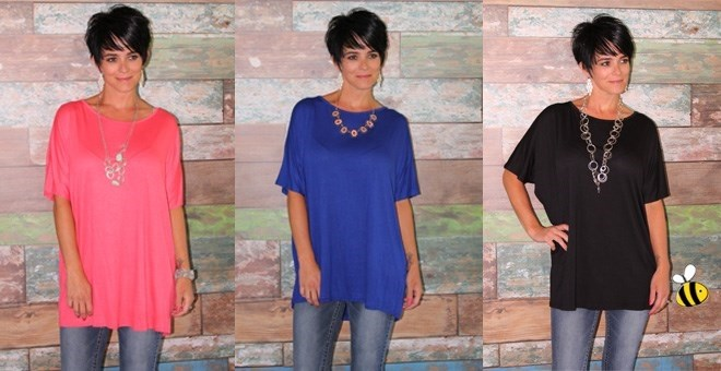Short Sleeve Summer Tunic - New Colors!