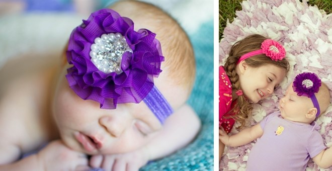 Abigail Flower Headband - Lovely for all ages!