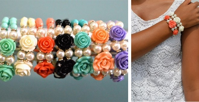 Rose Stretch Bracelets – 6 Colors!