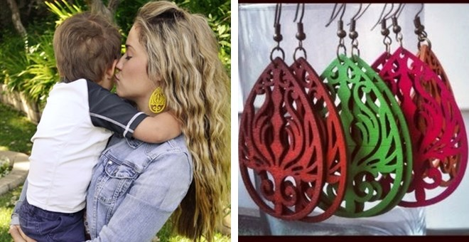 Wooden Filigree Earrings- 12 Colors!  Stock up for Gifts!