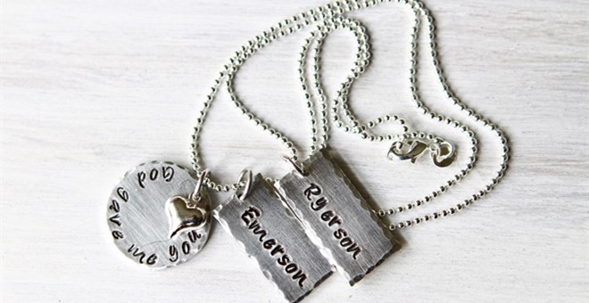 Hand Stamped God Gave Me You Necklace