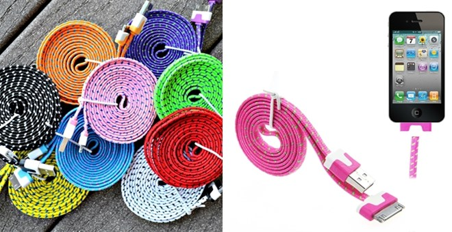 Noodle Rope Design-6 Foot  iPhone Charging Cable-4&5