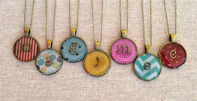 Personalized Initial Lowercase Brass Pendant Necklace