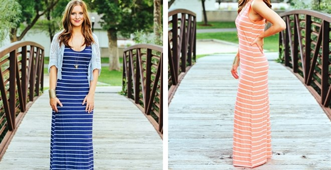 Striped Maxi Dress- 3 colors Quick Ship!