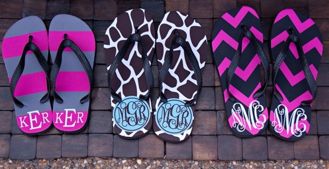 BLOW OUT price on Personalized flip flops!!