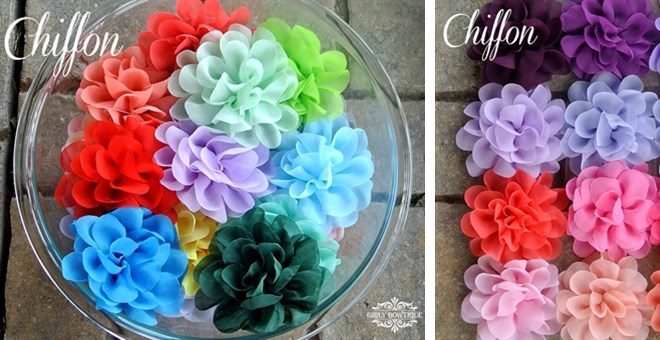 Beautiful Chiffon Headbands or Clips