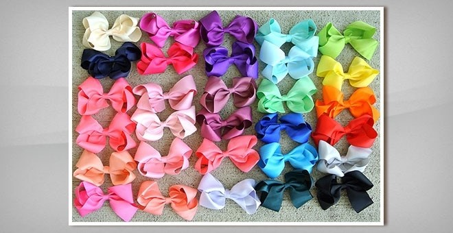 "Beautiful Boutique 4"" Hair Bows - Blowout"