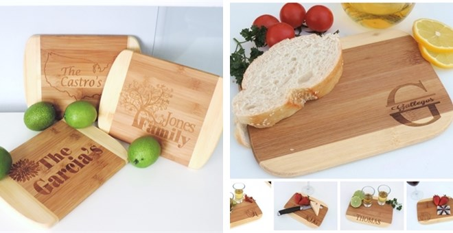 Two-Toned Bamboo Cutting Board - 8 Options!