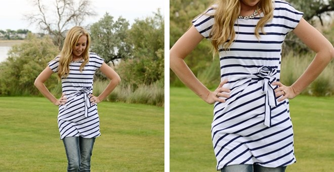 striped wrap tunics dresses