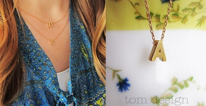 Tiny Initial Necklaces - 2 Colors!