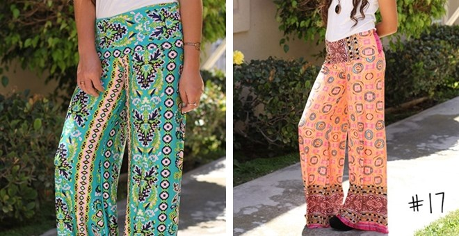 Printed Palazzos- Cut to Hem