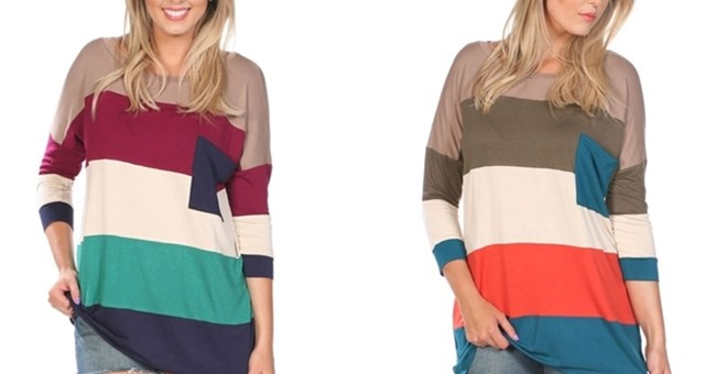 Slouchy Striped Top - 2 Colors!