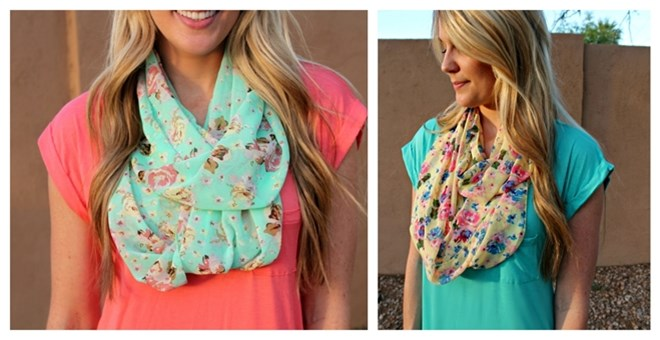 3brunettes Bestselling Floral Infinity Scarf!