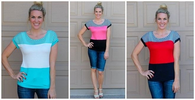 Colorblock and Stripes Tee!
