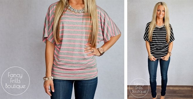 Summer Striped Dolman- Back by popular demand!
