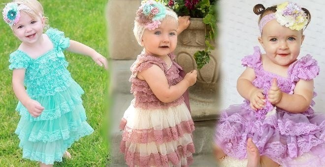 Cap Sleeve Lace dresses for babies 0-6 years old