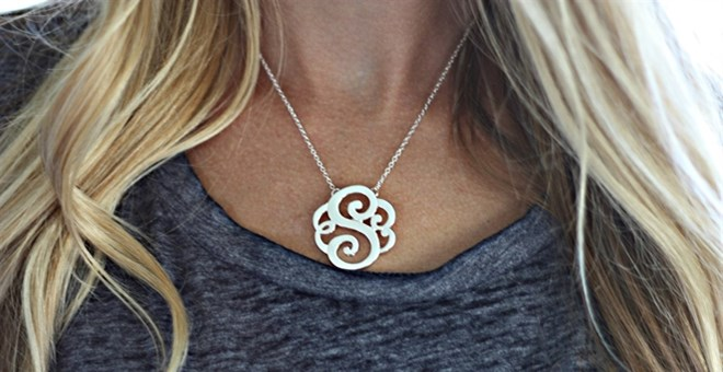 Gorgeous Sleek Monogram Initial! Perfect Summer Necklace!