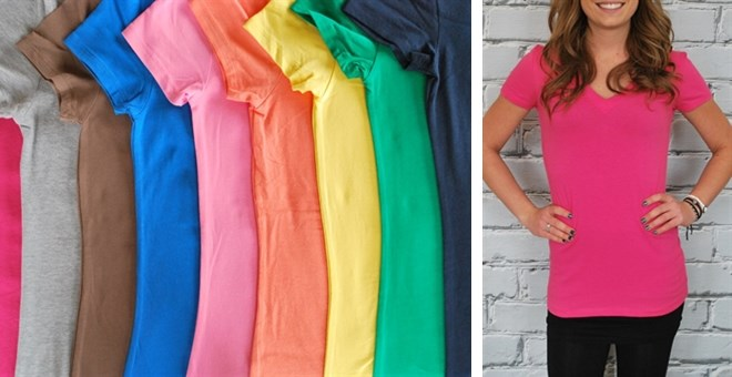 They're Back!  Extra Long V-Neck Shirts  - New Colors - 26 colors