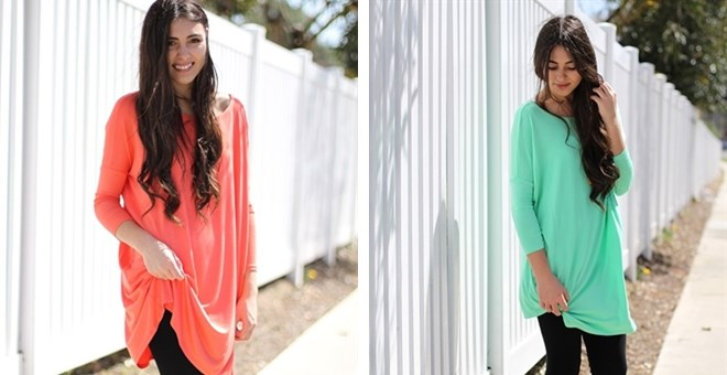 Ballet Sleeve Tunic- 8 Colors!