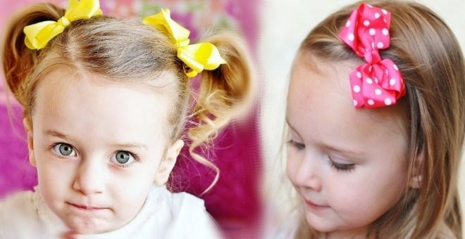 Small Polka Dot and Solid Color Hair bow Clips