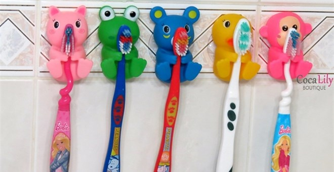 Animal Toothbrush Holders - 5 designs
