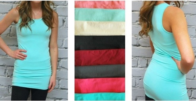 Extra Long Thick Strap Layering Tanks - 11 colors