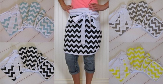 Chevron Aprons, Oven Mitts or Pot Holders
